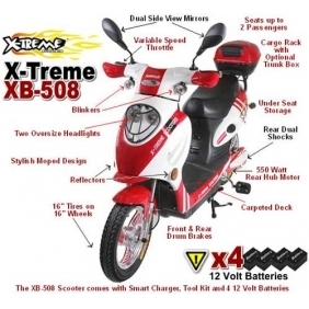 Wholesale X-Treme XB-508 Scooters Sport Electric Bicycle Moped